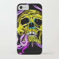 gore iPhone & iPod Cases featuring SKULL-GORE by scarecrowoven