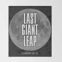 Last Giant Leap Throw Blanket