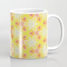 Bright Yellow Pink Accent Pattern Coffee Mug
