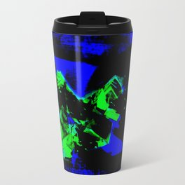Happy Chaos (Blue & Green) Travel Mug