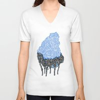 hologram V-neck T-shirts featuring Has 6 Legs by Atlan