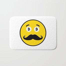 Mr. Bicoin Mustache Bath Mat