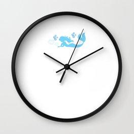 Mermaids Do Not Lose Sleep Funny Graphic T-shirt Wall Clock