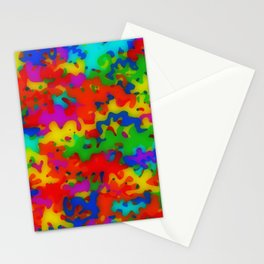 Rainbow camouflage Stationery Cards