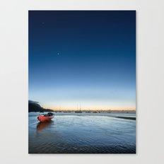 Saturn Sea Kayak Canvas Print