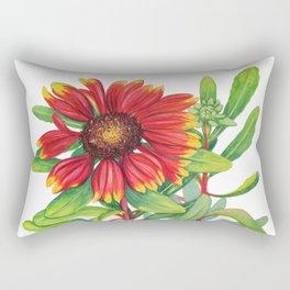 Sunset Daisy Rectangular Pillow