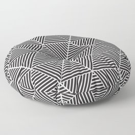 Black and White triangle pattern design Floor Pillow