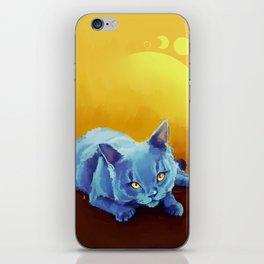Blue Cat iPhone Skin