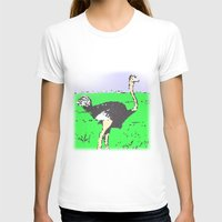 ostrich T-shirts featuring Ostrich by wingnang