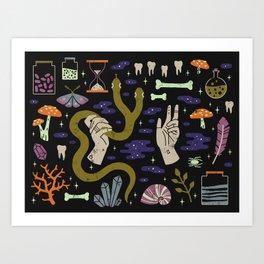 Spooky Horoscopes: Gemini Art Print