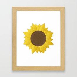 Midwest Sunflower Framed Art Print