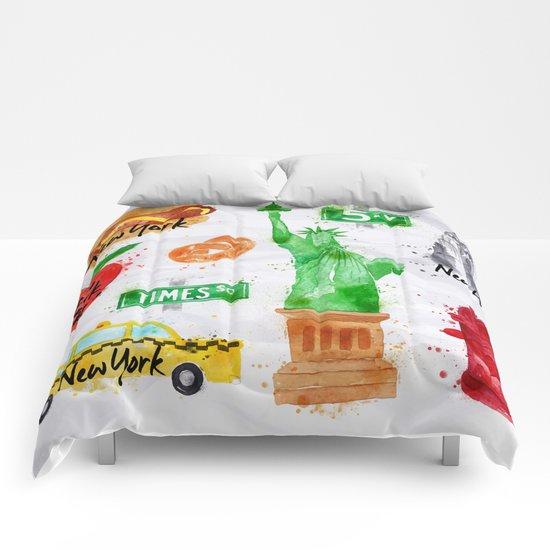 New York Symbols Comforters
