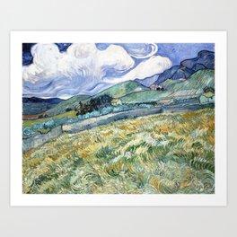 Landscape from Saint-Remy by Vincent van Gogh Art Print