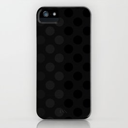 """Black & Grey Burlap Texture & Polka Dots"" iPhone Case"