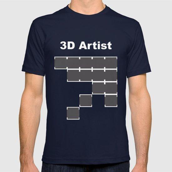 3D Artist T-shirt by khaledalkayed  fea086b64