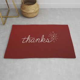 thanks* [red] Rug
