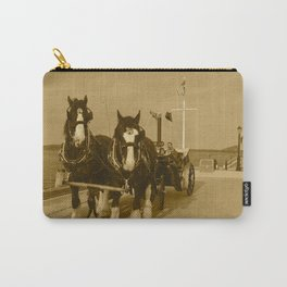 Draft Horses and Carriage Carry-All Pouch