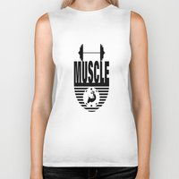 muscle Biker Tanks featuring MUSCLE  by Robleedesigns
