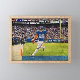 Giants Saquon Barkley Framed Mini Art Print