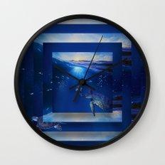 Swim the Seas Wall Clock