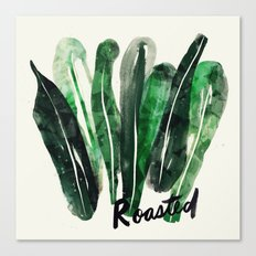 Roasted Kale | 100 Days of Cookbook Spots Canvas Print