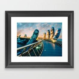 Golden Hands Bridge Vietnam Fine Art Print  • Travel Photography • Wall Art Framed Art Print