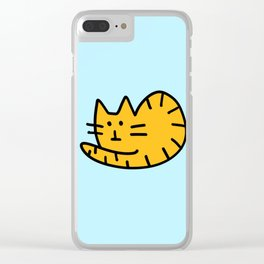 Orange tabby cat Clear iPhone Case