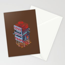 Love without Action Is Fantasy Stationery Cards