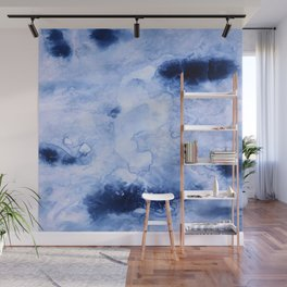 Marbled Water Blue Wall Mural