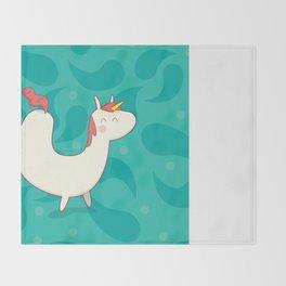 U is for unicorn Throw Blanket