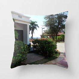 Old Lighthouse 2 @ Rincon Throw Pillow