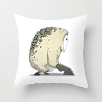 vendetta Throw Pillows featuring Creature | Vendetta Ape by ivanfanning