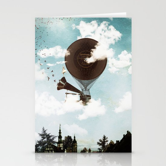 Swan Lake Up in the Air Stationery Cards