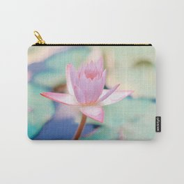 Cute Pink Blooming Lotus Carry-All Pouch