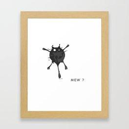 Mew Cat '2 Framed Art Print