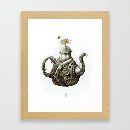 Topographical Tea Framed Art Print