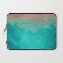 Sunset Over Lagoon Abstract Painting Laptop Sleeve
