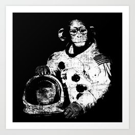 Space Monkey -- There's Hope For Us All Art Print