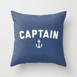 Captain Nautical Quote Throw Pillow