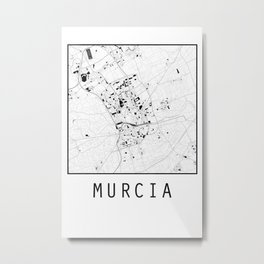 Murcia, Spain, city map Metal Print