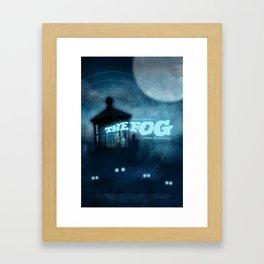 The Fog - Phantom Blue Framed Art Print