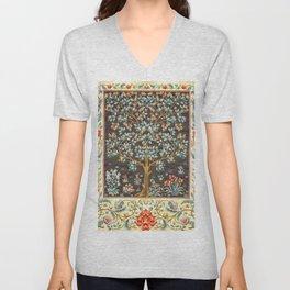 """William Morris """"Tree of life"""" 1. Unisex V-Neck"""