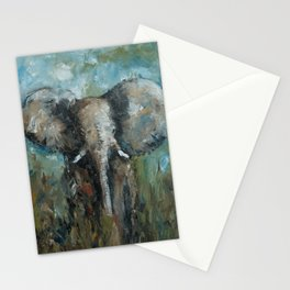 The Elephant | Oil Painting Stationery Cards