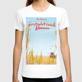 Smallville Kansas retro Travel poster T-shirt