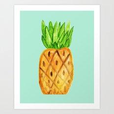Pineapple - Watercolor Art Print