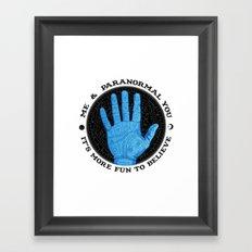 Me & Paranormal You - James Roper Design - Palmistry (black lettering) Framed Art Print