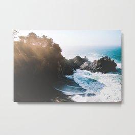 ocean falaise Metal Print