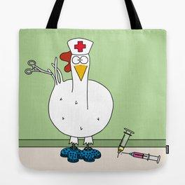 Eglantine la poule (the hen) dressed up as a nurse. Tote Bag
