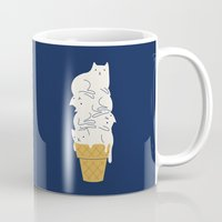 ilovedoodle Mugs featuring Meowlting by I Love Doodle