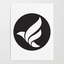 LFN b&w logo Poster